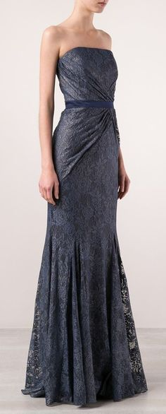 Badgley Mischka Floral Lace Dress  I would have nowhere to wear it but this dress is stunning! It could just be pretty hanging in the closet.