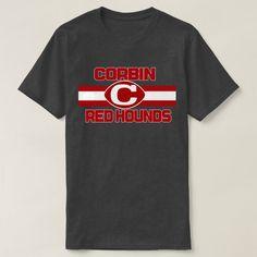 Corbin Red Hounds Highschool Kentucky Pride T-shirt, Men's, Size: Adult L, Charcoal Heather School Spirit Wear, School Spirit Shirts, School Shirts, Teacher Shirts, Cheer Shirts, Pride Shirts, Team Shirts, Volleyball Shirts, Football Shirts