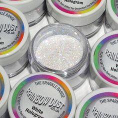 The Great American Cake - Rainbow Dust decorative sparkles Hologram White - Rainbow Dust Pó Não Tóxico Holograma Branco 5g
