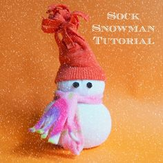 coloured buttons: No Sew Sock Snowman from Downunder