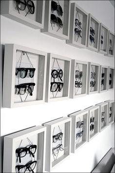 Eyewear in Shadowbox Frames