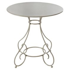Mesa para jardín redonda metálica gris topo - Mary