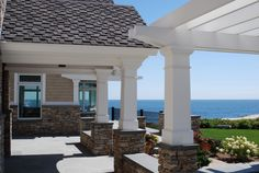 Elegant finishing touches on this home and pergola with AZEK Trim and Moulding. AZEK.com has a new #Trim Visualizer Tool to make your dream a reality.