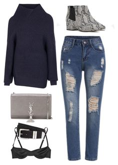"""""""Untitled #8677"""" by katgorostiza ❤ liked on Polyvore featuring Acne Studios, Yves Saint Laurent, French Connection, H&M and Marni"""