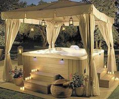 utdoor hot tubs in order to inspire you to make the best of your garden this summer. So, go on and check my amazing collection of Fascinating Outdoor Hot Tubs That Will Add Style To Your Life