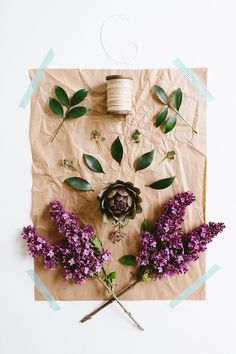 DIY a boho flower arrangement or centerpiece like a pro with this tutorial! this spring-fresh flower arrangement uses artichokes and lilacs.