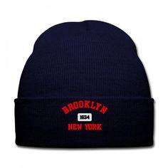 BROOKLYN NEW YORK 1634 EMBRIDERY Knit Cap