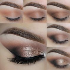 Click for more details on this dramatic yet classic look using Makeup Geek Creme Brulee, Latte, Mocha, and Corrupt eyeshadows along with Afterglow pigment and Immortal gel liner.