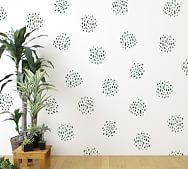 Dot Clusters Wall Decal, Dark Blue | Pottery Barn