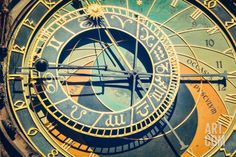 Vintage Retro Hipster Style Travel Image of Astronomical Clock on Town Hall. Prague, Czech Republic Premium Poster by f9photos at Art.com