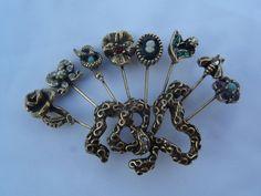 Goldette Victorian Revival Brooch - Goldette Victorian Revival Brooch