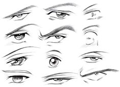 How To Draw Anime Male Eyes Step 12 Anime Pinterest Drawings