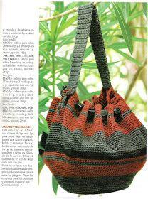Delicadezas en crochet Gabriela: 38 Prendas tejidas paso a paso Photo Pattern, Crochet Handbags, Crochet Bags, Beautiful Crochet, Bucket Bag, Purses And Bags, Gym Bag, Diy, Hand Bags