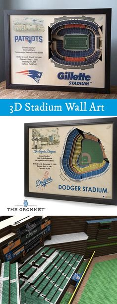 Celebrate your favorite sports team's home turf. These 3D stadium replicas are Made in the USA with layered, precision-cut wood to capture all the details from an aerial view Great gift for sports fans. Gifts For Sports Fans, Cute Gifts, Great Gifts, Unique Gifts, Diy Gifts, Gifts For Dad, Fathers Day Gifts, Aerial View, Baseball Stuff