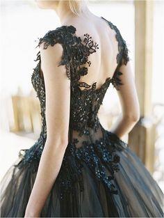 Wedding | Dress. Gothic black wedding dress.