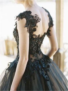 Wedding | Dress. Gothic black wedding dress.