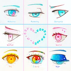 +Eye Expressions Sheet 3+ by larienne