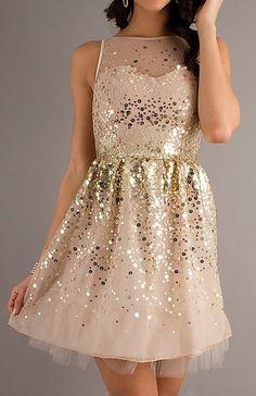 gold glitter + blush