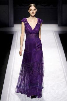 Alberta Ferretti {one of my favorite designers, in one of my favorite jewel tone colors}