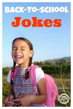 I am going to tease my kids with these on the first day of school this year...so silly.  Back To School Jokes For Kids
