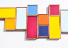 Oblong Color Chip Box//plexiglass and wood