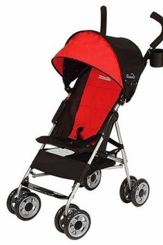 Lightweight umbrella stroller in Scarlet Red design has a safety harness to keep baby secure. Parent cup holder on umbrella stroller with storage. Lightweight umbrella stroller in Scarlet Red design has shock-absorbing front swivel wheels. Double Strollers, Baby Strollers, Toddler Stroller, Infant Toddler, Cheap Strollers, Pram Stroller, Best Prams, Best Lightweight Stroller, Best Umbrella