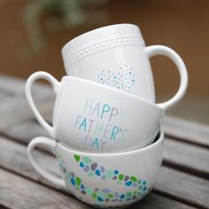 Sharpie Mugs! Dad will love these simple yet beautiful designs