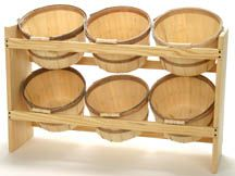 Baskets and rack from Texas Basket Company - SUPER reasonable prices, and made in America!