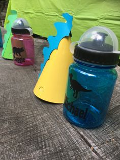 Dino hat project available in Cricut Design Space. Made the cups with my own upload... iLove the Cricut Air 2