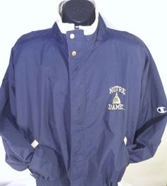 Notre Dame Fighting Irish Football Mens Size Large Lightweight Champion Jacket #Champion #Windbreaker