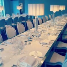 BAFTA 195 London Event Venue - White-on-White created a glamorous and dazzling dinner table setting option