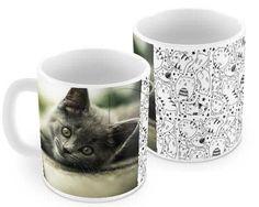 La texture piena di gattini per la tua tazza