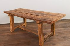2. Rustic Recycled French Oak Table