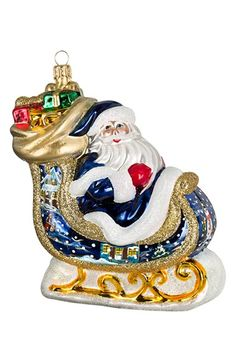 Joy to the World Collectibles Bratislava Santa Sleigh Ornament available at #Nordstrom