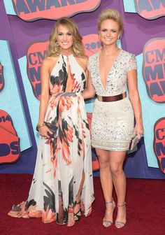 Pin for Later: Gone Country: See All the Stars at the CMT Awards! Carrie Underwood and Miranda Lambert