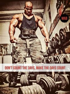 Don't count the days, make the days count Lifting Motivation, Gym Quote, Muhammad Ali, Count, Bodybuilding, Strong, Fitness, Motivational, How To Make