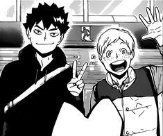 they're so precious ! They low-key look like Iwazumi and Tsukki's brother to me Haikyuu Manga, Kuroo, Karasuno, Low Key, Hinata, Volleyball, Sons, Brother, Fan Art