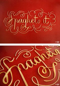 Spaghet-It Food Typography by Danielle Evans