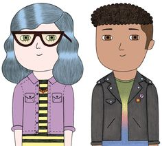 A couple of cool kids for Pearson Education books.