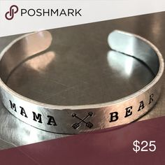 Mama Bear bracelet Hand stamped (by me)! Available in copper or aluminum. Fully customizable! Support small businesses 💜 NOT KENDRA SCOTT Kendra Scott Jewelry Bracelets