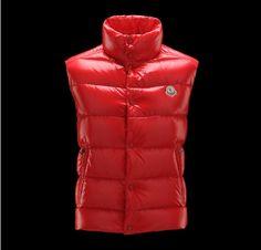 Moncler Mens 2012 Tibet Down Vest in Red [2900176] - 139.08 :