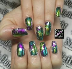 Fun with nail art foils. ..www.nailsdoneright.com