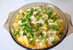 Egzotikus réteges saláta Risotto, Potato Salad, Macaroni And Cheese, Potatoes, Ethnic Recipes, Food, Mac And Cheese, Potato, Essen