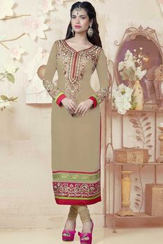 Beige Shantoon Churidar Suit with Chiffon Dupatta  Price:-£49.00  New arrival Churidar Collection now in store presented by Andaaz Fashion like Beige Shantoon Churidar Suit with Chiffon Dupatta. Embellished with Embroidered, Resham, Stone,Full Sleeve Kameez, Knee Length Kameez, V Neck Kameez. This is prefect for Party, Festival, Casual  http://www.andaazfashion.co.uk/beige-shantoon-churidar-suit-with-chiffon-dupatta-dma13245.html
