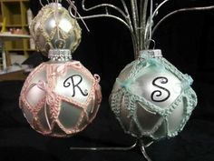 Baby crochet ornaments with initial