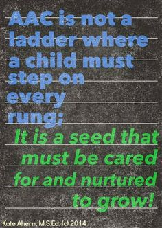 Teaching Learners with Multiple Special Needs: AAC is a Seed!