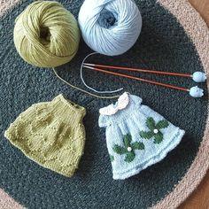 귀여운 원피스들. 아이~ 곱다..👗💕 @littlecottonrabbits sheep and mouse girl dresses #니팅돌 #원피스 #니트그램 #dolldress #knittingdoll #knitting