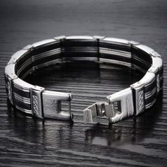 - Stainless Steel Bracelet Men Bangle Silver Color Fashion Bracelet For Men Gift Bracelet Clasps, Metal Bracelets, Link Bracelets, Bracelets For Men, Fashion Bracelets, Bangle Bracelets, Bracelet Men, Bangles, Punk Jewelry