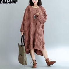 DIMANAF Women Sweater Plus Size Knitted Cotton High Street Striped Fashion Female Solid Oversize Split Winter European Pullover Plus Size Cardigans, Stripes Fashion, Cotton Style, Costumes For Women, Pullover Sweaters, Sleeve Styles, Winter, Sweaters For Women, Clothes For Women