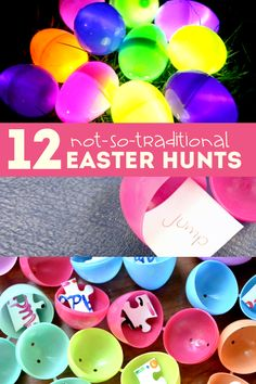 Some fun Easter scavenger hunt ideas for kids to do to celebrate Easter! There's more than just a traditional Easter egg hunt to do on Easter morning! (I particularly like the puzzle pieces idea. Easter Games, Easter Activities, Holiday Activities, Holiday Crafts, Holiday Fun, Holiday Ideas, Spring Activities, Easter Hunt, Easter Party